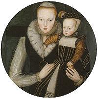 Портрет Катерины с сыном. Фото из Википедии