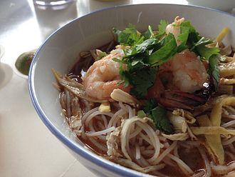 Culture of Sarawak - A bowl of Sarawak laksa