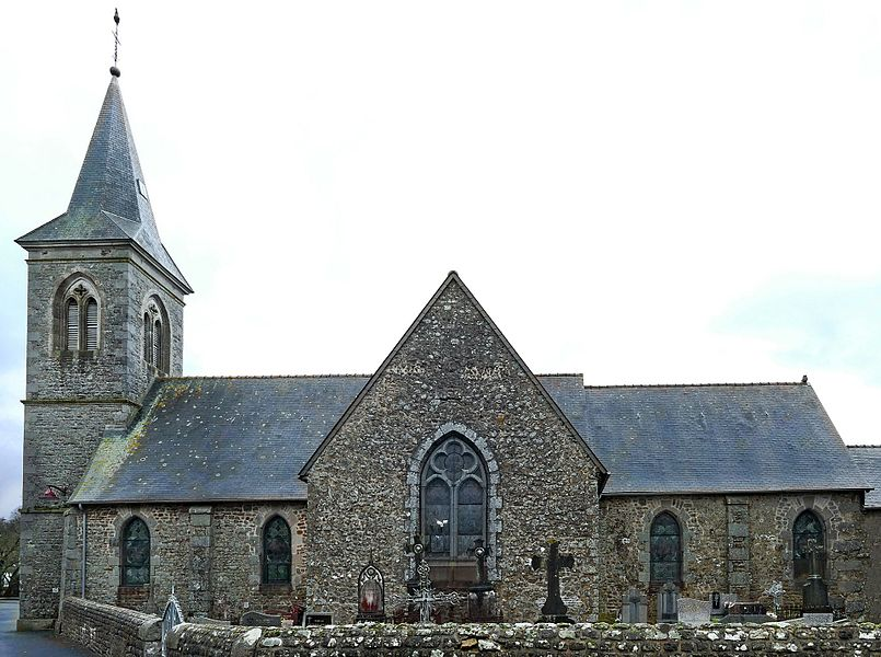 Saint-Martin's church in Lalacelle (Orne, Normandie, France).