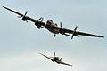 Lancaster & Spitfire - RIAT 2014 (14740781947).jpg