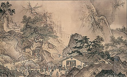 Landscapes of the Four Seasons (1486), Sesshu Toyo. Ink and light color on paper. Landscapes of the Four Seasons.jpg