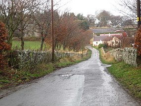 Lane leading to Baro Farm in East Lothian - geograph.org.uk - 1606690.jpg