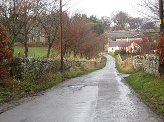 Bara, East Lothian - Image: Lane leading to Baro Farm in East Lothian geograph.org.uk 1606690