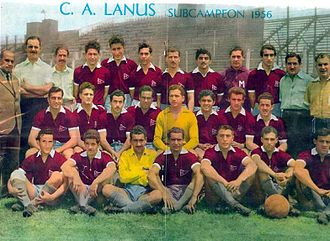 Club Atlético Lanús - The 1956 runner-up, nicknamed The Globetrotters.