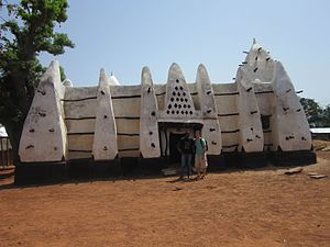 Kingdom of Dagbon - Larabanga Mosque in Dagbon, built in the 15th century.