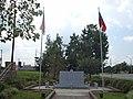 Large monument and flagpoles at Tifton Veterans Memorial Park.JPG