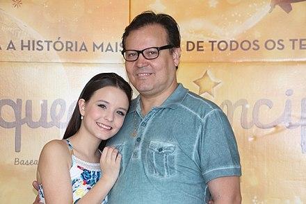 Larissa e seu pai, Gilberto Elias Santos. b280ac1cb9