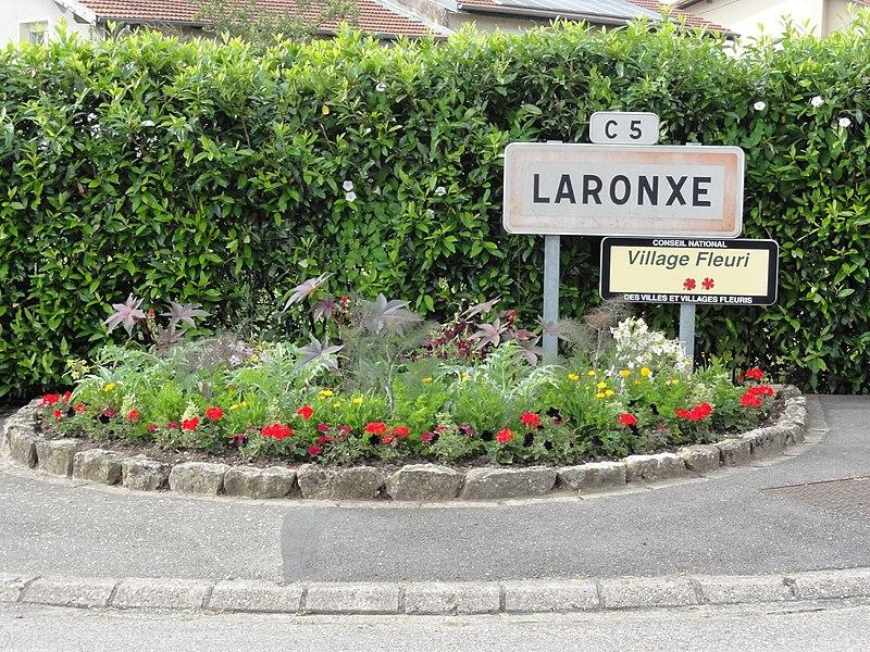 Laronxe (M-et-M) city limit sign