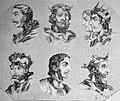 """Las Glorias Nacionales, 1852 """"Nº VII. De Reyes de España. 1. Fruela 2. Aurelio 3. Silon y Adosinda 4. Mauregato 5. Bermudo I 6. Alonso II. (4013950548).jpg"""