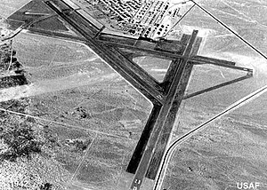 Nellis Air Force Base - The Las Vegas Army Airfield had 3 runways in 1942, the year Tonopah Army Airfield opened in August (the Tonopah Bombing Range had been divided in 1941 into the Tonopah and Las Vegas General Ranges.)