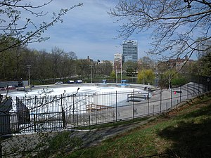 Lasker Rink - Looking down from East Drive