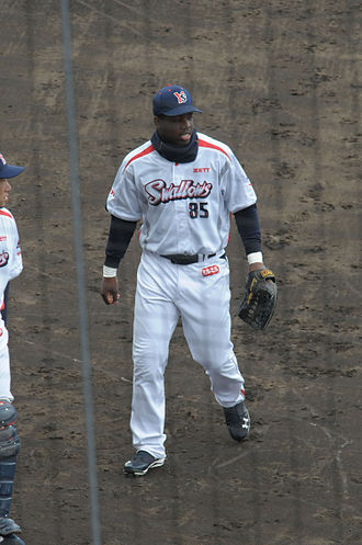Lastings Milledge - Milledge with the Tokyo Yakult Swallows in 2012.