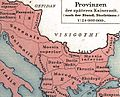 Late roman province Thracia Outcut from Roman provinces of Illyricum, Macedonia, Dacia, Moesia, Pannonia and Thracia.jpg