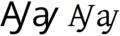 Latin alphabet AY.png