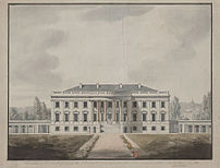 1817 study of the White House south facade bas...