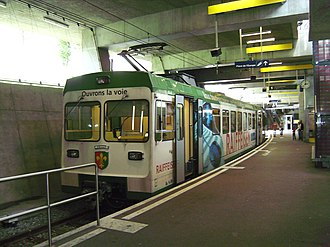 Lausanne-Flon station - Image: Lausanne LEB
