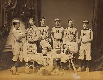 Jim Tyng - Tyng, back row second from right, with his Harvard teammates in 1877. Golf course architect Herbert Leeds stands back row far left.