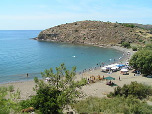 Volissos - View of Lefkathia beach