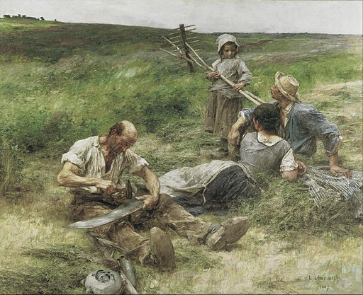 Leon-Augustin Lhermitte - Haymaking - Google Art Project