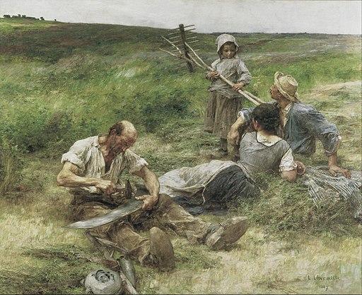 Leon-Augustin Lhermitte - Haymaking - Google Art Project