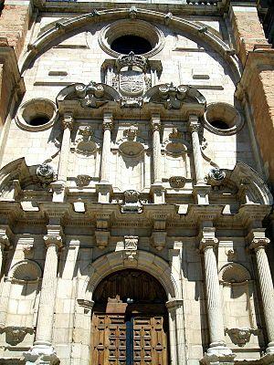 Monastery of San Pedro de Eslonza - Former monumental gate of the monastery, now part of the church of San Juan y San Pedro de Renueva in León.