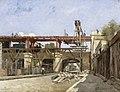 Les Travaux de relèvement du chemin de fer de ceinture, le pont de la rue de la Voûte.jpg