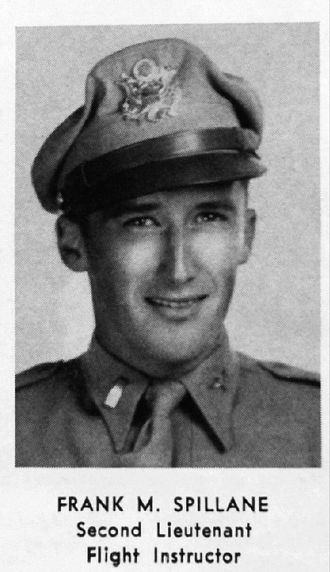 Mickey Spillane - Photo of Lt. Frank M. Spillane from Greenwood Army Air Field yearbook for 1943.