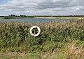 Lifebelt at irrigation reservoir - geograph.org.uk - 1517196.jpg