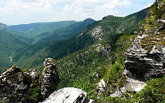 Pisgah National Forest - Linville Gorge Wilderness in the Pisgah National Forest.