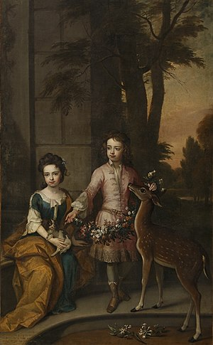 Charles Sackville, 6th Earl of Dorset - Charles Sackville had two children with his second wife, Mary Compton: Lionel (right) and Mary (left).