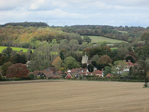 Little Missenden from the path up Toby's Lane-geograph-4267230-by-Peter-