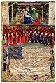 Livre I des annales (1295-1532). Les portraits des capitouls de l'année 1436-1437 et La descente de croix.jpg