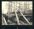 Loading lumber onto the four masted bark AUSTRASIA using lumber chutes, Puget Sound port, Washington, ca 1904 (HESTER 246).jpeg