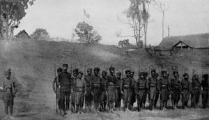French Protectorate of Laos - Local Lao soldiers in the French Colonial guard, c.1900