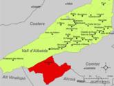 Localització de Bocairent respecte de la Vall d'Albaida.png