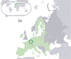 Location of Euro gold and silver commemorative coins (Luxembourg)