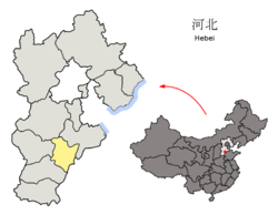 Location of Hengshui City jurisdiction in Hebei
