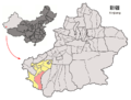 Location of Kargilik within Xinjiang (China).png