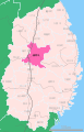 Location of Morioka city, Iwate prefecture Japan.svg
