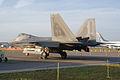 Lockheed-Martin F-22A-30-LM Raptor 05-099 LSideRear Dawn SNF 04April2014 (14399676690).jpg