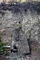 Lodge beside a slab of landslide (4517947267).jpg