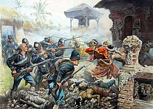 Lombok - Dutch intervention in Lombok and Karangasem against the Balinese in 1894.