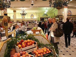 Distribution (business) - Harrod's food hall - a major retailer in London