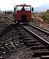 Lone rider on the Sumpter Valley Railway, coming from Baker City Or. - panoramio.jpg