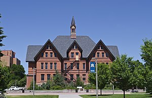 Montana State University - Montana Hall, the second building constructed on campus. The Office of the President is located here.