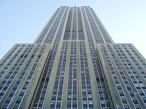 34th Street (Manhattan) - The Empire State Building, located on 34th Street and Fifth Avenue