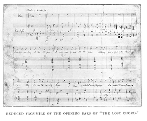 "The Lost Chord - The opening bars of ""The Lost Chord""; facsimile of Sullivan's manuscript"