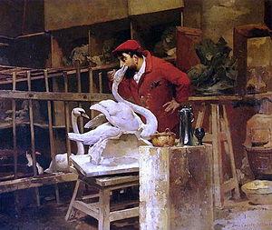 Louis-Robert Carrier-Belleuse - The Animal Sculptor (1880)