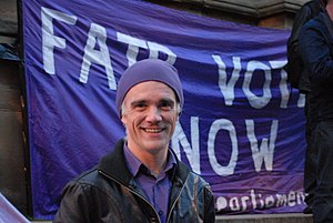 English: A photograph of Pirate Party UK leade...