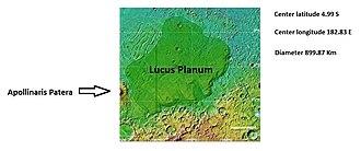 Lucus Planum - Image: Lucusplanummap